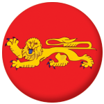 Aquitaine Province Flag 58mm Button Badge